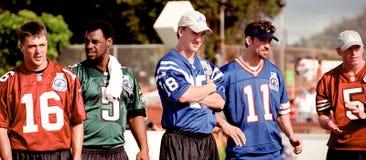 Peyton Manning przy 2001 NFL QB wyzwaniem zdjęcie royalty free