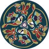Pez de colores tradicional chino oriental de la flor de loto del modelo libre illustration