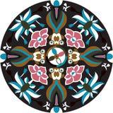 Pez de colores tradicional chino oriental de la flor de loto del modelo ilustración del vector