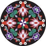 Pez de colores tradicional chino oriental de la flor de loto del modelo stock de ilustración
