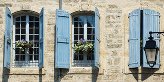 Pezenas (France). Pezenas (Herault, Languedoc-Roussillon, France), buildings of the medieval city stock photo