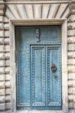 Pezenas (France). Pezenas (Herault, Languedoc-Roussillon, France), medieval city: blue door stock photo