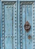 Pezenas (France). Pezenas (Herault, Languedoc-Roussillon, France), medieval city: blue door stock photography