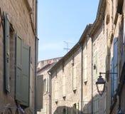 Pezenas (France). Pezenas (Herault, Languedoc-Roussillon, France), medieval city: windows stock images