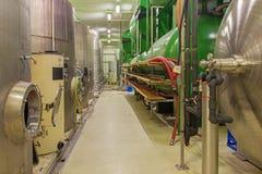 Pezinok - Binnen van de grote Slowaakse producent van de wijnfabrikant  Royalty-vrije Stock Foto's