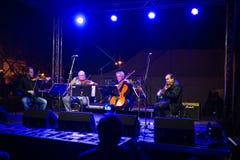 Concert for murdered investigative reporter Jan Kuciak and his fiancée Martina Kusnirova in Pezinok, Slovakia on Apr. 3, 2018 Stock Photography