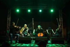 Concert for murdered investigative reporter Jan Kuciak and his fiancée Martina Kusnirova in Pezinok, Slovakia on Apr. 3, 2018 Royalty Free Stock Image