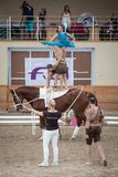 International Vaulting competition in Pezinok, Slovakia on June Stock Photos