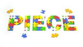 Pezzi al puzzle Fotografie Stock Libere da Diritti
