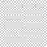 Pezzi appiccicosi isolati del nastro illustrazione di stock