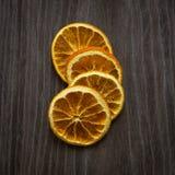 Pezzi arancio secchi Fotografia Stock Libera da Diritti