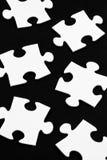 Pezzi bianchi del puzzle Fotografie Stock Libere da Diritti