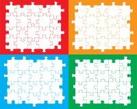 Pezzi in bianco del puzzle Immagini Stock