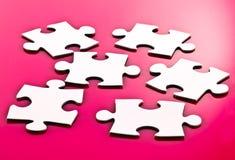 Pezzi in bianco del puzzle Fotografia Stock