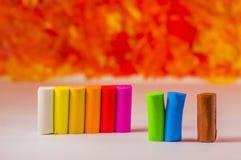 Pezzi colorati di argilla Fotografia Stock Libera da Diritti