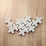 Pezzi concreti di puzzle Immagine Stock