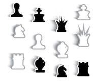Pezzi degli scacchi grafici astratti Fotografia Stock Libera da Diritti