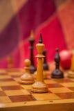 Pezzi degli scacchi. Scacchi del gioco nel parco in due. Immagini Stock Libere da Diritti