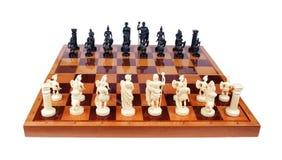 Pezzi degli scacchi sotto forma di Romani Fotografie Stock Libere da Diritti