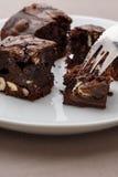 Pezzi del brownie Fotografia Stock Libera da Diritti