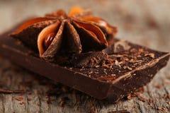 Pezzi del cioccolato Fotografia Stock
