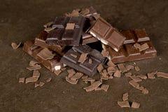 Pezzi del cioccolato - 03 Immagini Stock Libere da Diritti