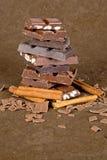 Pezzi del cioccolato - 05 Immagine Stock