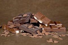 Pezzi del cioccolato - 04 Fotografia Stock Libera da Diritti