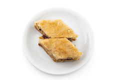 Pezzi del dolce della baklava Fotografia Stock