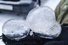 Pezzi del ghiaccio Fotografia Stock
