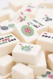 Pezzi del gioco da tavolo di Mahjong Fotografie Stock Libere da Diritti