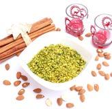 Pezzi del pistacchio Immagini Stock