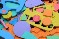 Pezzi del puzzle dei bambini Fotografia Stock
