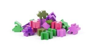 Pezzi del puzzle isolati Fotografia Stock