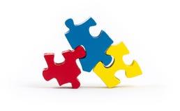 Pezzi del puzzle isolati Fotografia Stock Libera da Diritti
