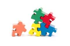 Pezzi del puzzle isolati Immagini Stock Libere da Diritti
