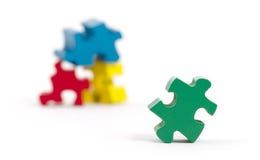 Pezzi del puzzle isolati Fotografie Stock Libere da Diritti