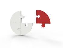 Pezzi del puzzle isolati su fondo bianco. Concetto di lavoro di squadra di affari. royalty illustrazione gratis