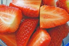 Pezzi deliziosi di fragola Immagine Stock