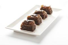 Pezzi della baklava con cacao Immagine Stock Libera da Diritti