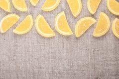 Pezzi della marmellata d'arance Immagine Stock