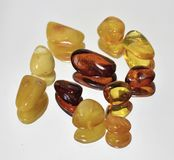 Pezzi di ambra variopinta Fotografie Stock Libere da Diritti