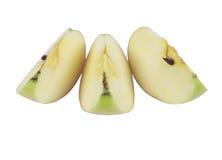 Pezzi di Apple su fondo bianco Fotografia Stock Libera da Diritti