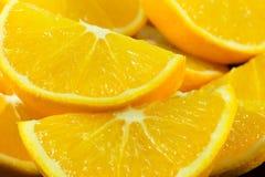 Pezzi di arancia Fotografia Stock
