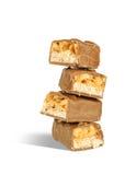 Pezzi di barre di cioccolato Fotografia Stock Libera da Diritti