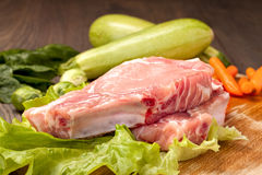 Pezzi di carne cruda per cucinare Fotografie Stock Libere da Diritti