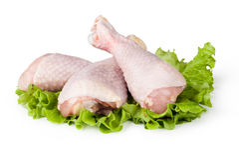 Pezzi di carne di pollo cruda Immagini Stock Libere da Diritti