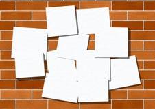 Pezzi di carta per gli annunci. Fotografie Stock Libere da Diritti