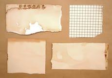 Pezzi di carta sporchi Fotografia Stock
