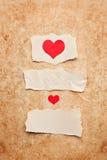 Pezzi di carta strappati sulla priorità bassa del grunge Fotografie Stock Libere da Diritti